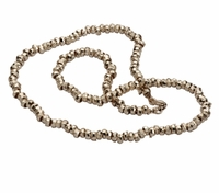 Sterling silver classic designer necklace