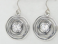 Sterling silver  dangle earrings Boho design
