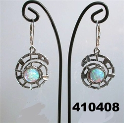 Sterling silver earrings opals