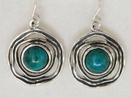Sterling silver Eilat stones earrings