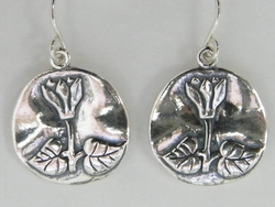 Sterling silver floral earrings - rakafot