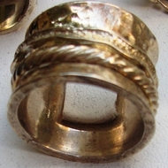 Sterling Silver Israeli plus size jewellery Spinning Ring