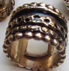Sterling silver Israeli spinning ring Boutique Plus size 10