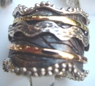 Sterling silver jewelry & gold spinning ring all sizes