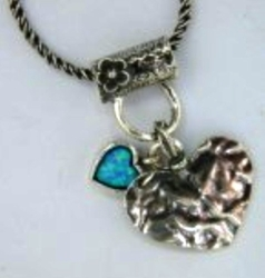 Sterling silver necklace   Hearts necklace