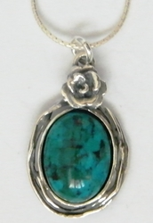 Sterling silver necklace turquoise
