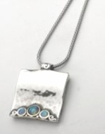 Sterling silver necklace with opals