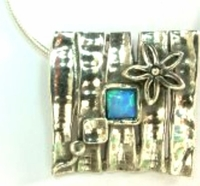 Sterling silver pendant necklace designer jewelry