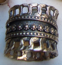 Sterling silver plus size ring spinning Made in Israel