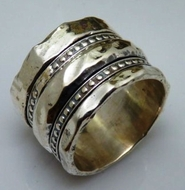 Sterling silver rings Israeli designer jewelry spinner ring