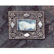 Sterling silver roman glass brooch