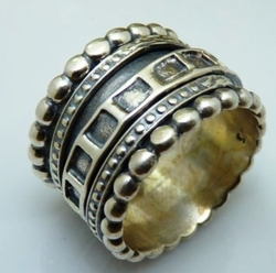 Sterling silver spinner ring mens's rings