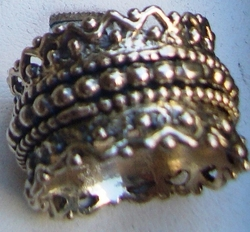 Sterling silver spinning ring plus size boutique