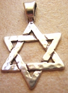 Sterling silver star of David pendant 1.8 cm