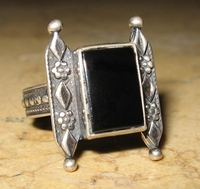 Sterling silver traditional Yemenite ethnic ring - Free shipping