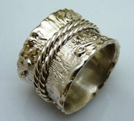 Sterling silver unisex massive ring