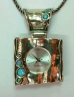 Sterling silver watch for woman Japanese movement Water ressist