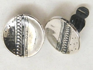 Sterling silver woman clip-on earrings