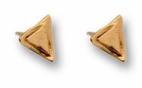 Stud gold earrings triangle earrings
