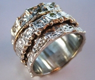 Swivel ring made in Israel jewelry