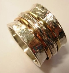 Swivel ring silver and gold