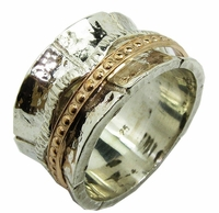 Swivel Silver and Gold Ring
