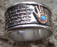 Traveler's jewish prayer  ring israeli hamsa
