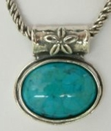 Turquoise necklace silver necklace