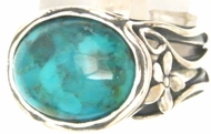 Turquoise sterling silver 925 ring native american inspired jewelry