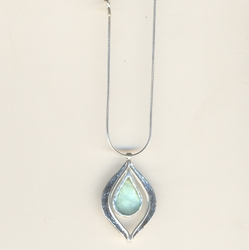 Unique Handcrafted roman glass necklace. Made in Israel