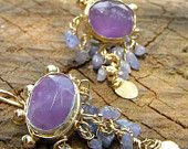 Waterfall Amethyst Earrings elegant earrings fashion . Video