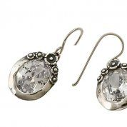 Zircon sterling silver earrings