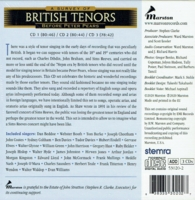 A Survey of British Tenors before Peter Pears    (3-Marston 53020)