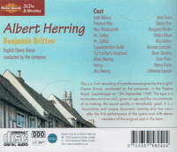 Albert Herring (Britten)  (Joan Cross, Nancy Evans, Peter Pears, Margaret Ritchie, Otakar Kraus)  (3-Nimbus 5824/26)