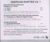 American Rarities, Vol. I - Goossens,  Mitropoulos, Woodworth    (St Laurent Studio YSL 78-165)