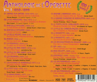 Anthologie de l'Operette, Vol. I    (Forlane 19165)