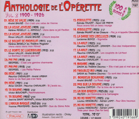 Anthologie de l'Operette, Vol. II  (Forlane 19166)