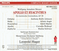 Apollo et Hyacinthus (Mozart)  (Hager;  Anthony Rolfe Johnson, Arleen Auger, Edith Mathis) (2-Philips 422 526)