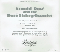 Arnold Rose and the Rose String Quartet - Bach & Beethoven  (2-Biddulph LAB 056/57)