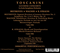 Arturo Toscanini  - La Scala Orchestra   (2-Immortal Performances IPCD 1015)