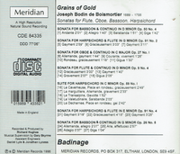 Badinage (Carroll, Civval & Rowland) (Grains of Gold - Sonatas by Bodin de Boismortier) (Meridian 84335)
