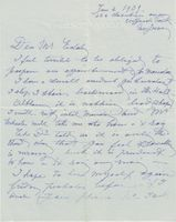 Blanche Arral (Signed Note)
