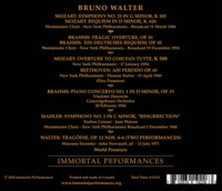 Bruno Walter - Treasury of Little Known Broadcasts  (Steber, Tourel, Simoneau, Forrester)  (4-Immortal Performances IPCD 1099)