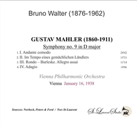 Bruno Walter, Vol. III - Mahler 9th, Vienna   (St Laurent Studio YSL 78-959)