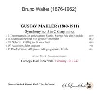 Bruno Walter, Vol. IV - Mahler 5th - NYPO   (St Laurent Studio YSL 78-1015)