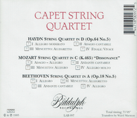 Capet String Quartet  (Biddulph LAB 097)