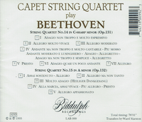 Capet String Quartet   (Biddulph LAB 099)