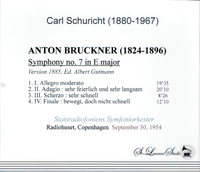 Carl  Schuricht - Bruckner 7th   (St Laurent Studio YSL T-781)