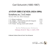 Carl Schuricht, Vol. III - Bruckner 7th    (St Laurent Studio YSL 78-923)