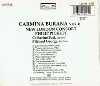 Carmina Burana, Vol. II - New London Consort - Philip Pickett   (l'Oiseau-Lyre 421 062)